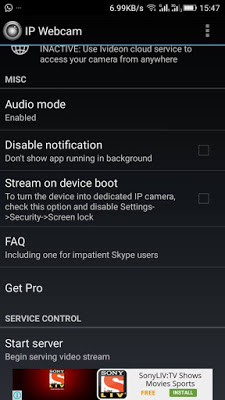 How To Use Your Android Phone As Wireless Web Camera For PC