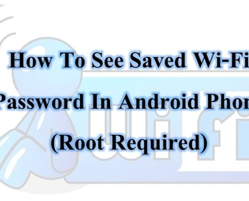view saved wifi password in rooted android