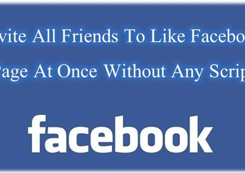 invite all friends to like facebook page without script