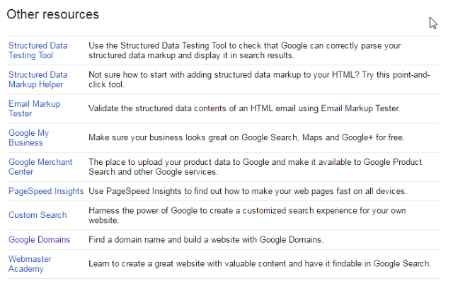 Other Resources of Search Console