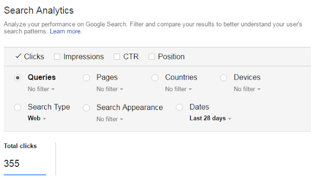 Search Analytics in Search Console