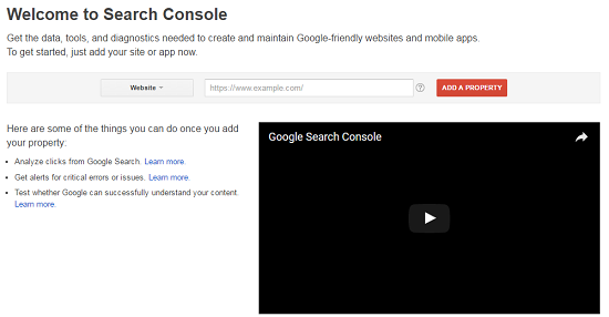 Adding and verifying your Site(s) in Search Console (Webmaster Tools)