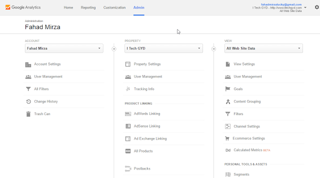 Setting the Site's Search With Google Analytics
