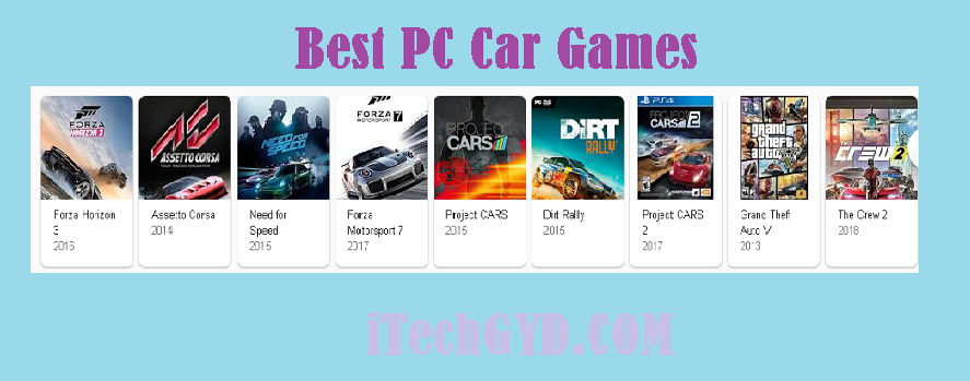 Best PC Car Games