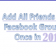 Add All Friends To A Facebook Group At Once