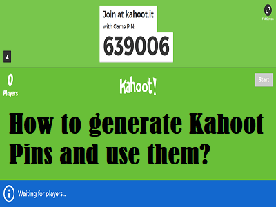 How to generate Kahoot Pins and use them?