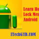 how to lock messages in android