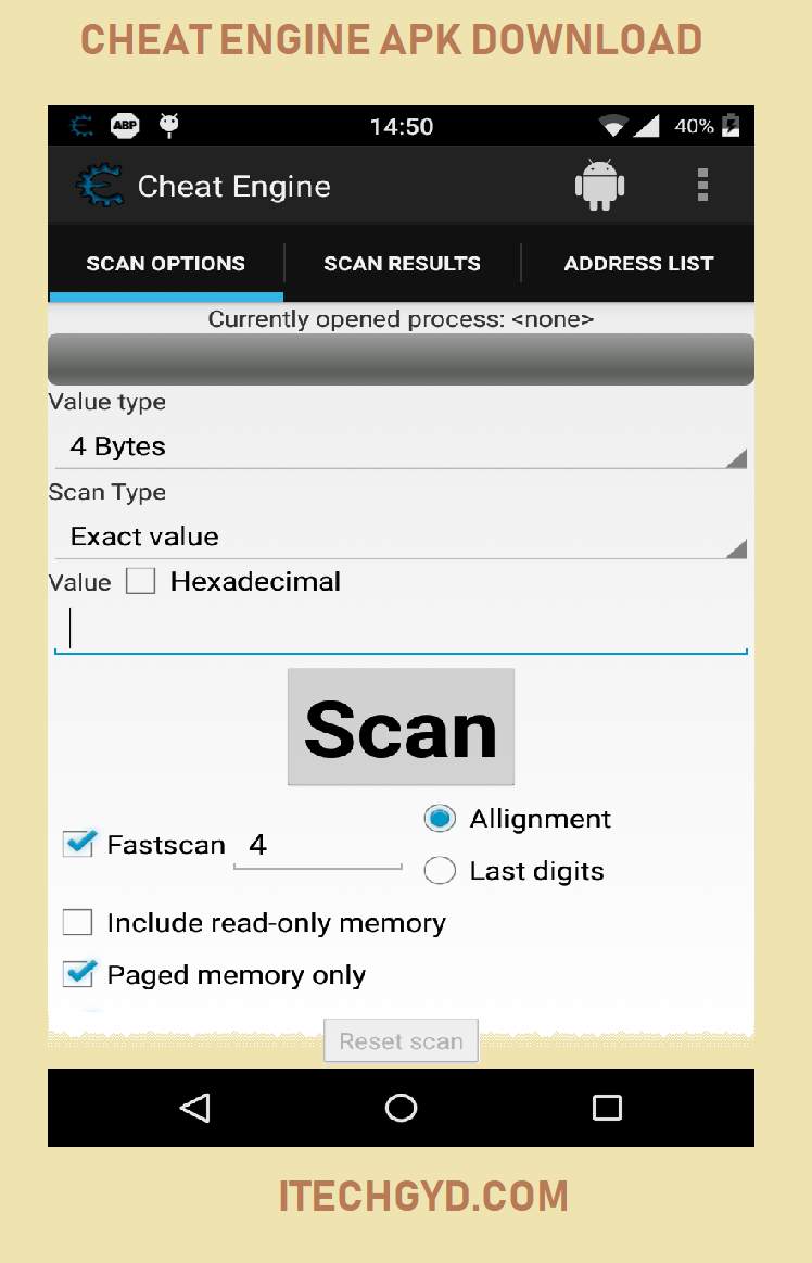 Cheat Engine APK Download for Android - I Tech GYD