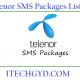 telenor sms packages